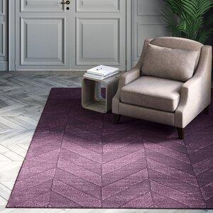 Wrought Studio Zora Handwoven Wool Purple Area Rug Wayfair