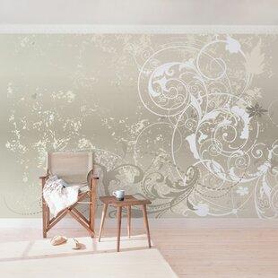 Pearl Ornamental 3.36m x 225cm Semi-Gloss Wallpaper Roll by East Urban Home