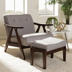 Wholesale Interiors Enrico Mid-Century Modern Lounge Chair and ...