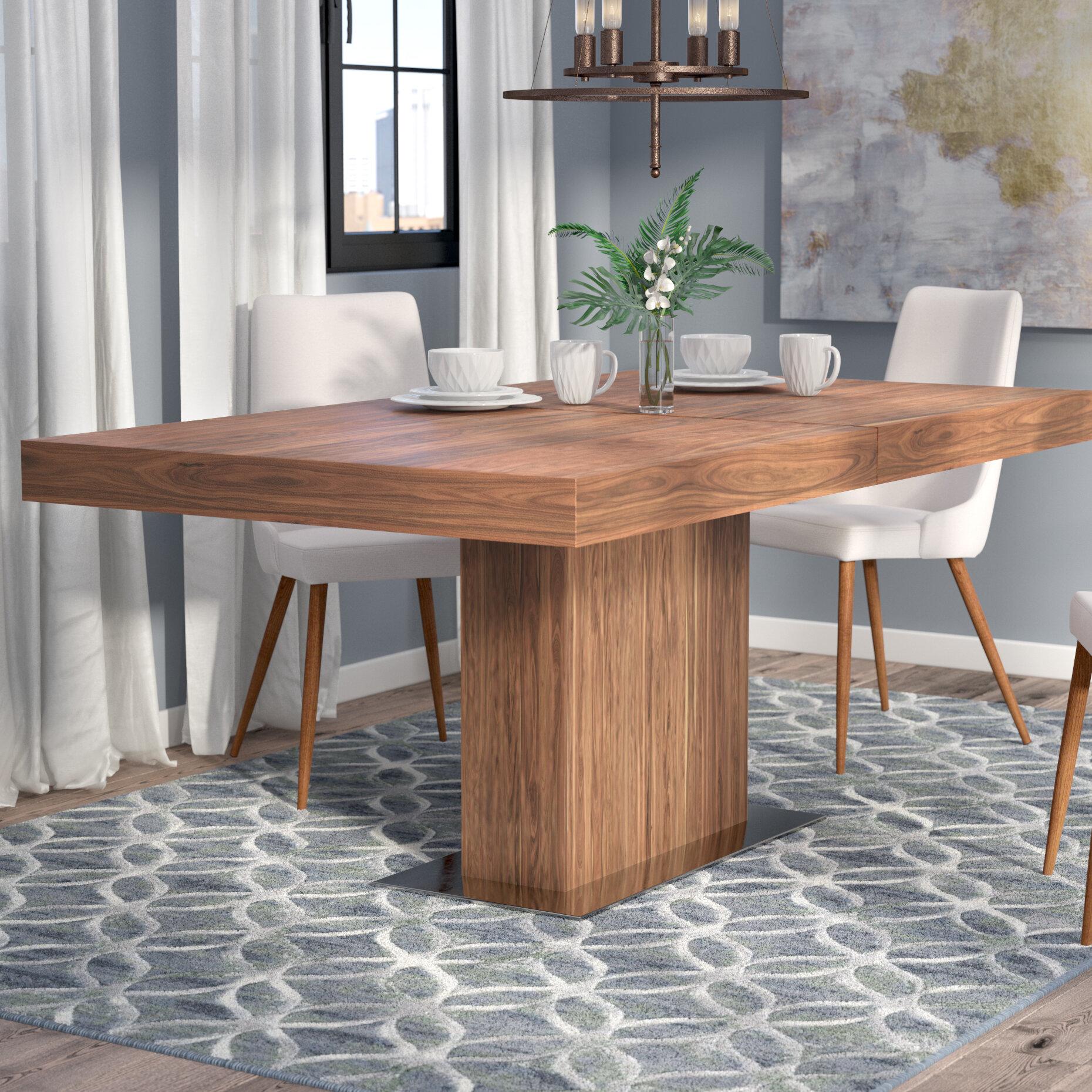 Wade Logan Melfa Extendable Dining Table Reviews Wayfair