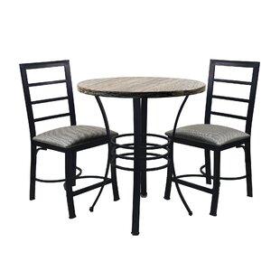 Casillas Bistro 3 Piece Dining Set (Set Of 3)