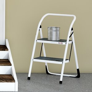 Wayfair Basics 2 Step Steel Step Stool With 300 Lb. Load Capacity