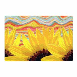Suzanne Carter Sunflower Dreaming Yellow/Brown Area Rug