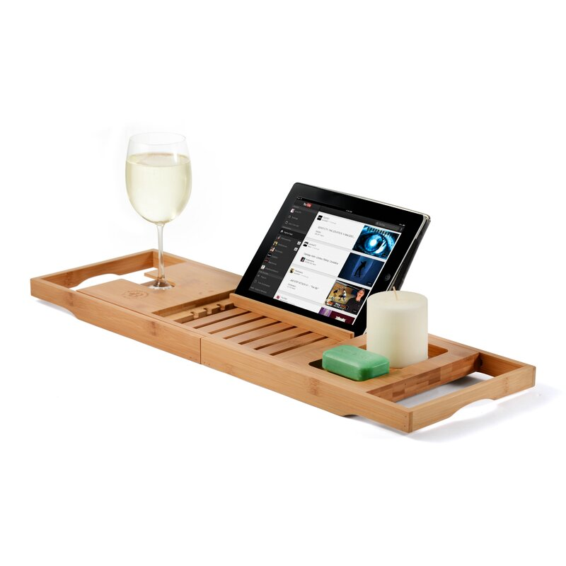 The Twillery Co. Elledge Bamboo Bath Caddy & Reviews | Wayfair