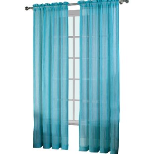 Slate Blue Sheer Curtains