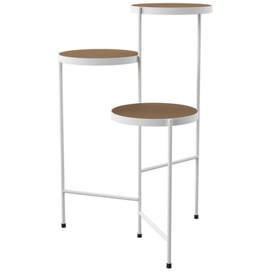 Mercury Row Logan Square Multi-Tiered Plant Stand Color: White