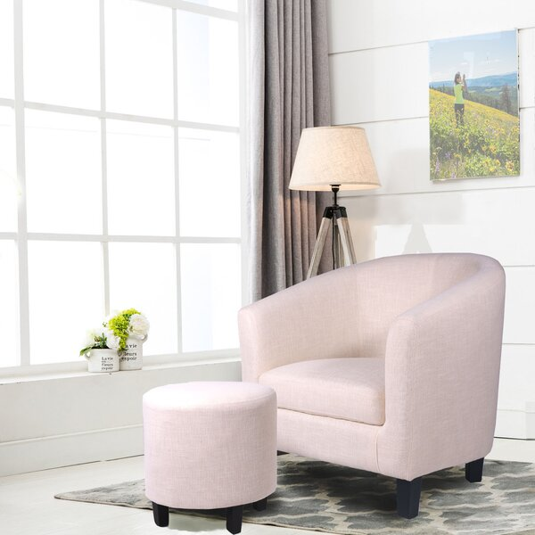 margaux barrel chair and ottoman