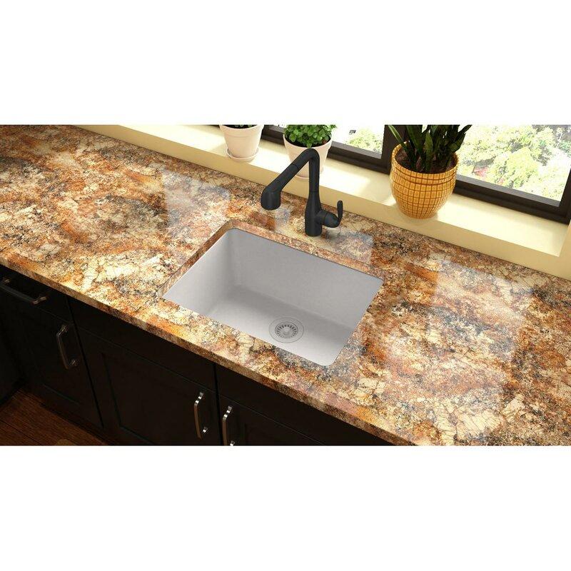 quartz classic 25   x 19   undermount kitchen sink elkay quartz classic 25   x 19   undermount kitchen sink  u0026 reviews      rh   wayfair com