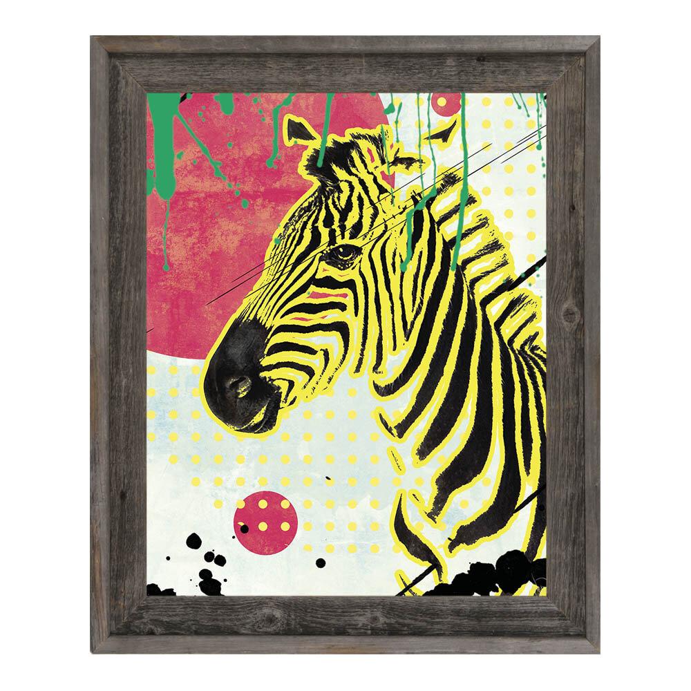Click Wall Art \'The Serene Zebra\' Framed Graphic Art | Wayfair