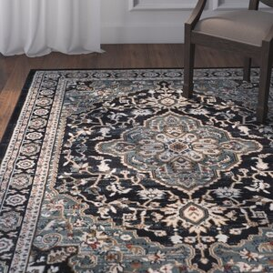 Taufner Anthracite/Teal Area Rug
