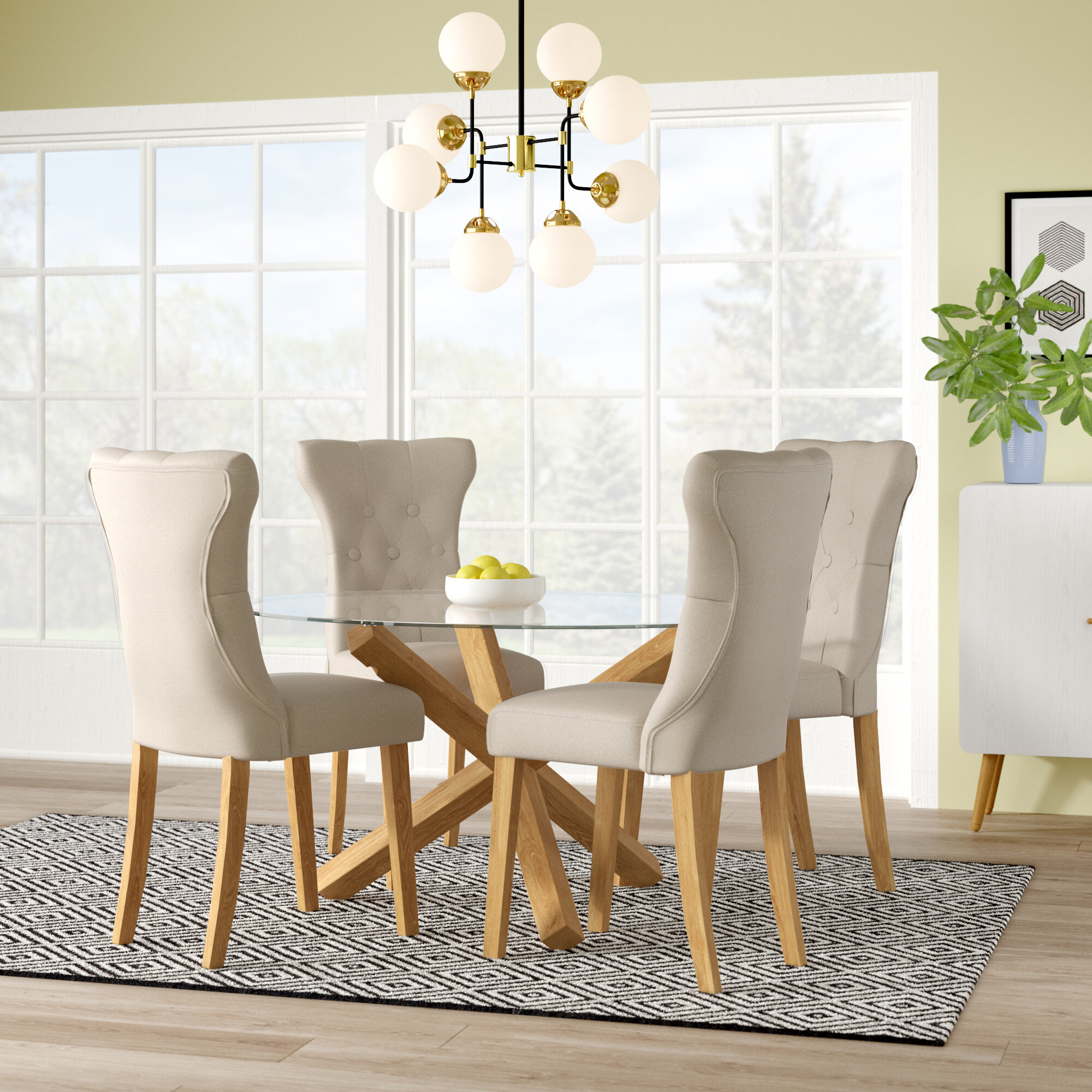 Stupendous Oporto Dining Set With 4 Chairs Download Free Architecture Designs Viewormadebymaigaardcom