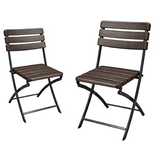 Danielson Bistro Style Folding Patio Dining Chair (Set Of 2)