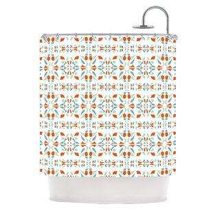 Italian Kitchen Orange Shower Curtain