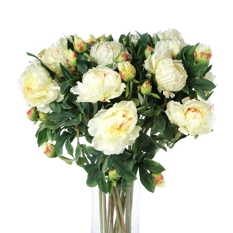 Nearly natural giant peony silk flower arrangement in white giant peony silk flower arrangement in white mightylinksfo