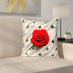 Latitude Run Hansard Fence Rose Indoor Throw Pillow Wayfair