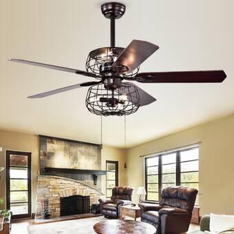 Trent Austin Design 52 Glenpool 5 Blade Ceiling Fan Light