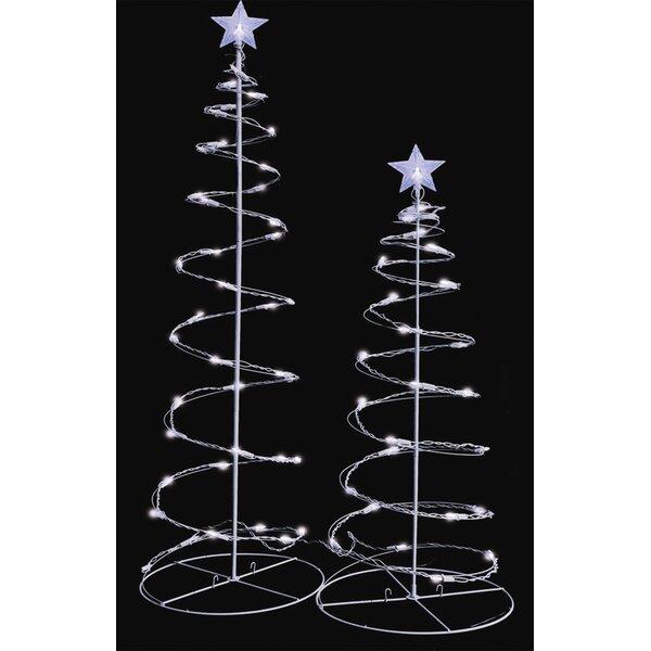 lighted spiral trees wayfair