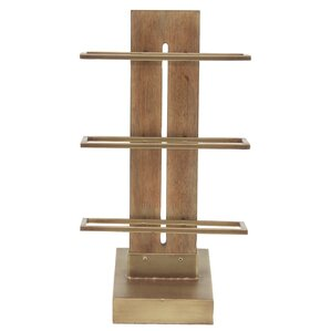 Camire Contemporary 3-Tiered Wood and Metal Tabl..