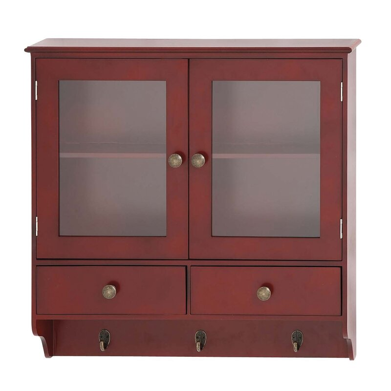 Cole & Grey Wood Wall with Hook 2 Door Accent Cabinet & Reviews ...