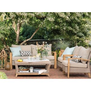 Dillard 4 Piece Sofa Set with Cushions