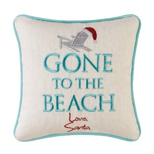 Stahr Embroidered Gone To The Beach Throw Pillow