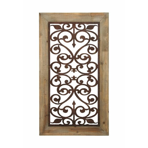 Wood And Iron Wall Decor woodland imports wood metal wall decor & reviews | wayfair