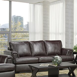 Royal Cranberry Italian Leather Sofa