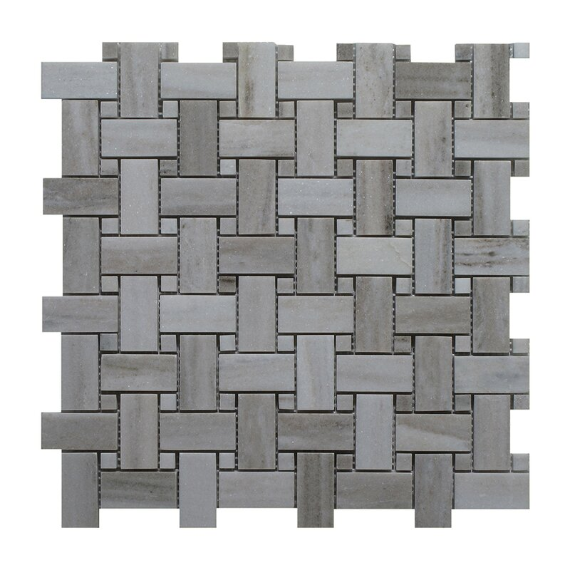 Seven Seas Palissandro Marble Mosaic Tile in Dark Gray Reviews