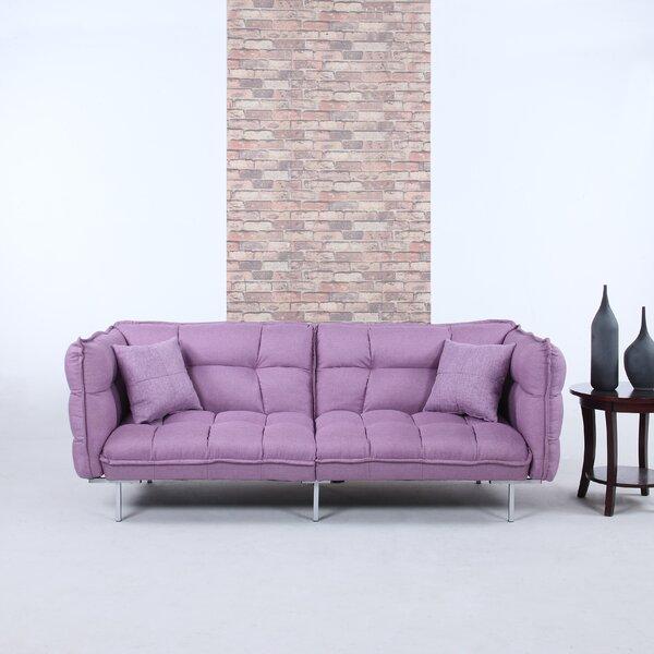 Madison Home USA Modern Plush Tufted Linen Splitback Living Room Sleeper  Sofa | Wayfair