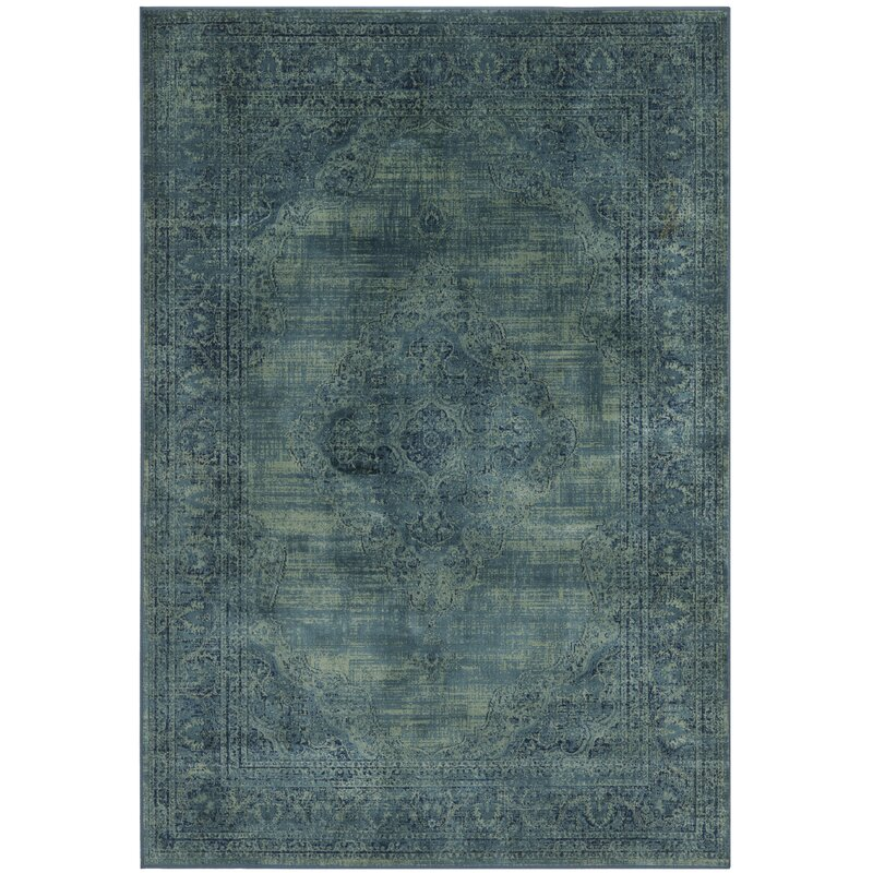 Linoleum Rug Turquoise Terracotta Area Rug Or Kitchen Mat: Mistana Makenna Power Loomed Turquoise/Blue Area Rug