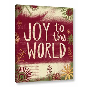 Joy to the World Textual Art on Wrapped Canvas