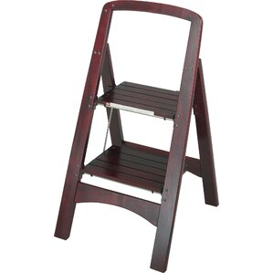 rockford 2step wood step stool with 225 lb load capacity