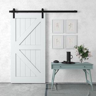Incroyable Distressed White Barn Door | Wayfair