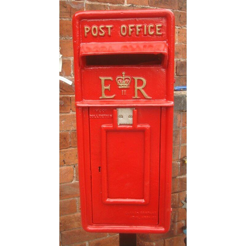 Letterbox Uk: Blackbrook Replica Royal Locking Post Mounted Letter Box