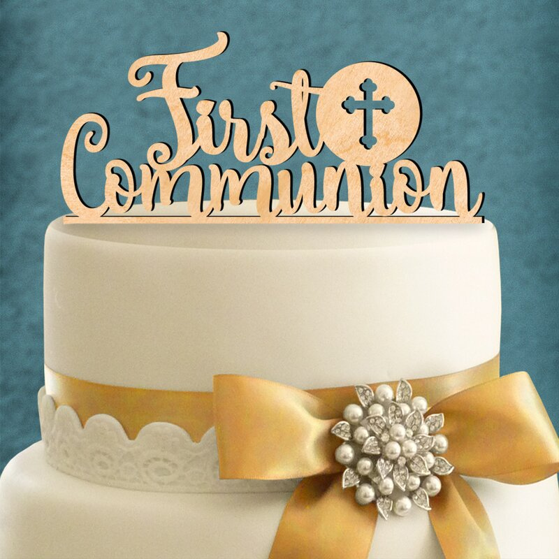 aMonogramArtUnlimited First Communion Cake Topper ...