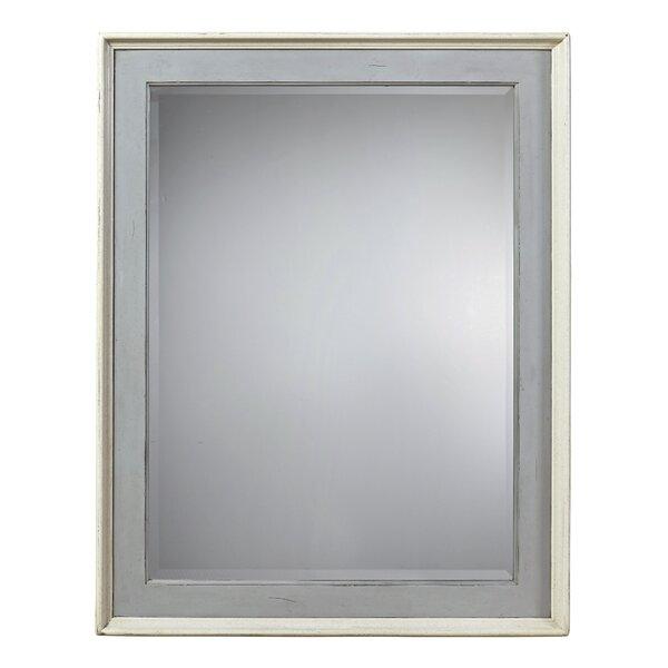 Grey Framed Bathroom Mirrors gray wood frame mirror | wayfair