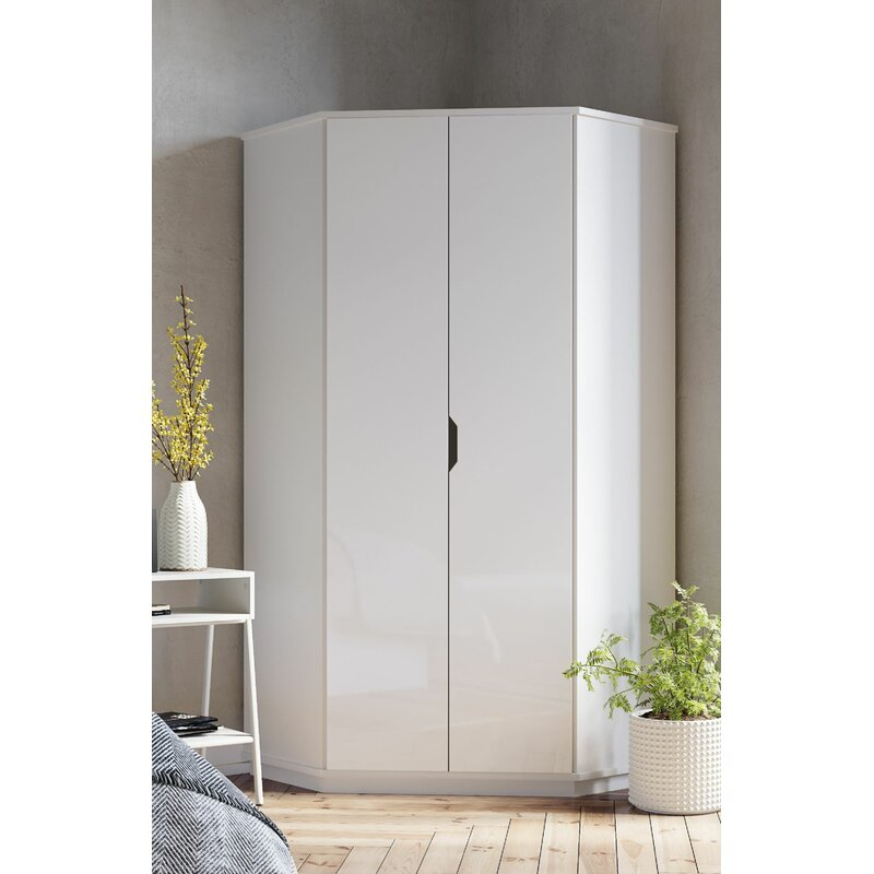 Ebern Designs Colletta 2 Door Corner Wardrobe | Wayfair.co.uk on