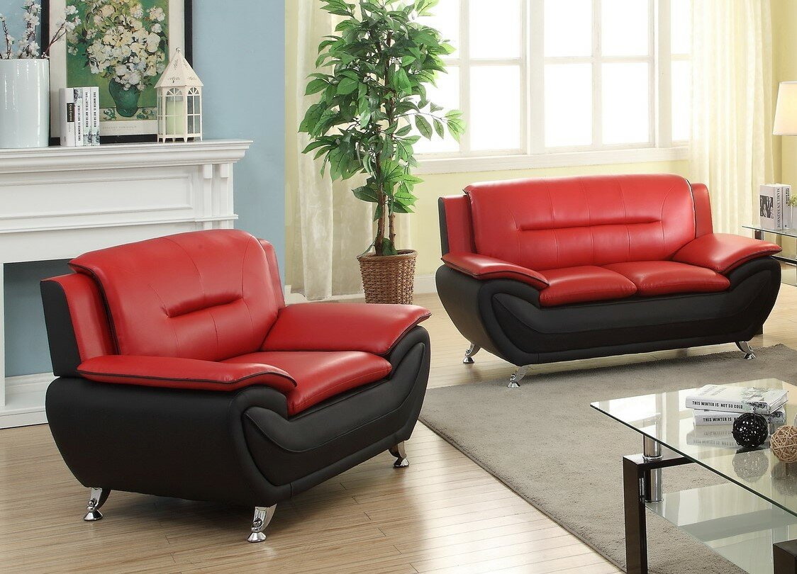 Add Charm Living Room Sets Orren Ellis Jasmin 2 Piece Living Room Set u0026 Reviews | Wayfair