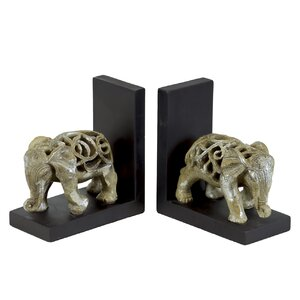 Resin Elephant Bookend (Set of 2)