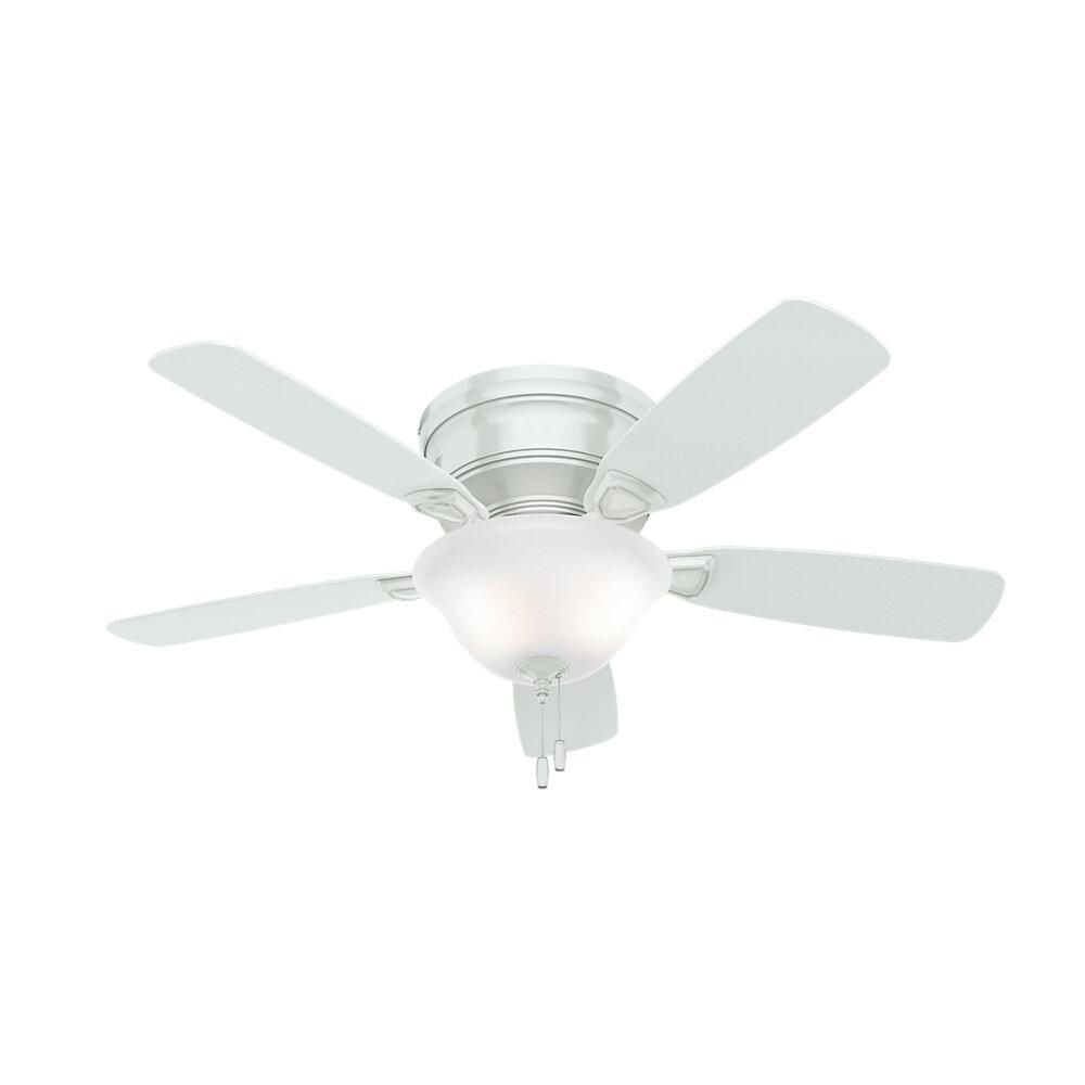 Hunter Fan 48 Low Profile 5 Blade Ceiling Light Kit Included Reviews Wayfair