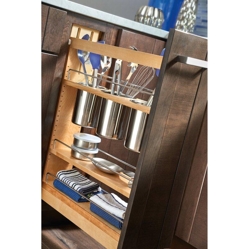 Rev A Shelf 5 Cabinet Utensil Organizer Pull Out Pantry Reviews Wayfair