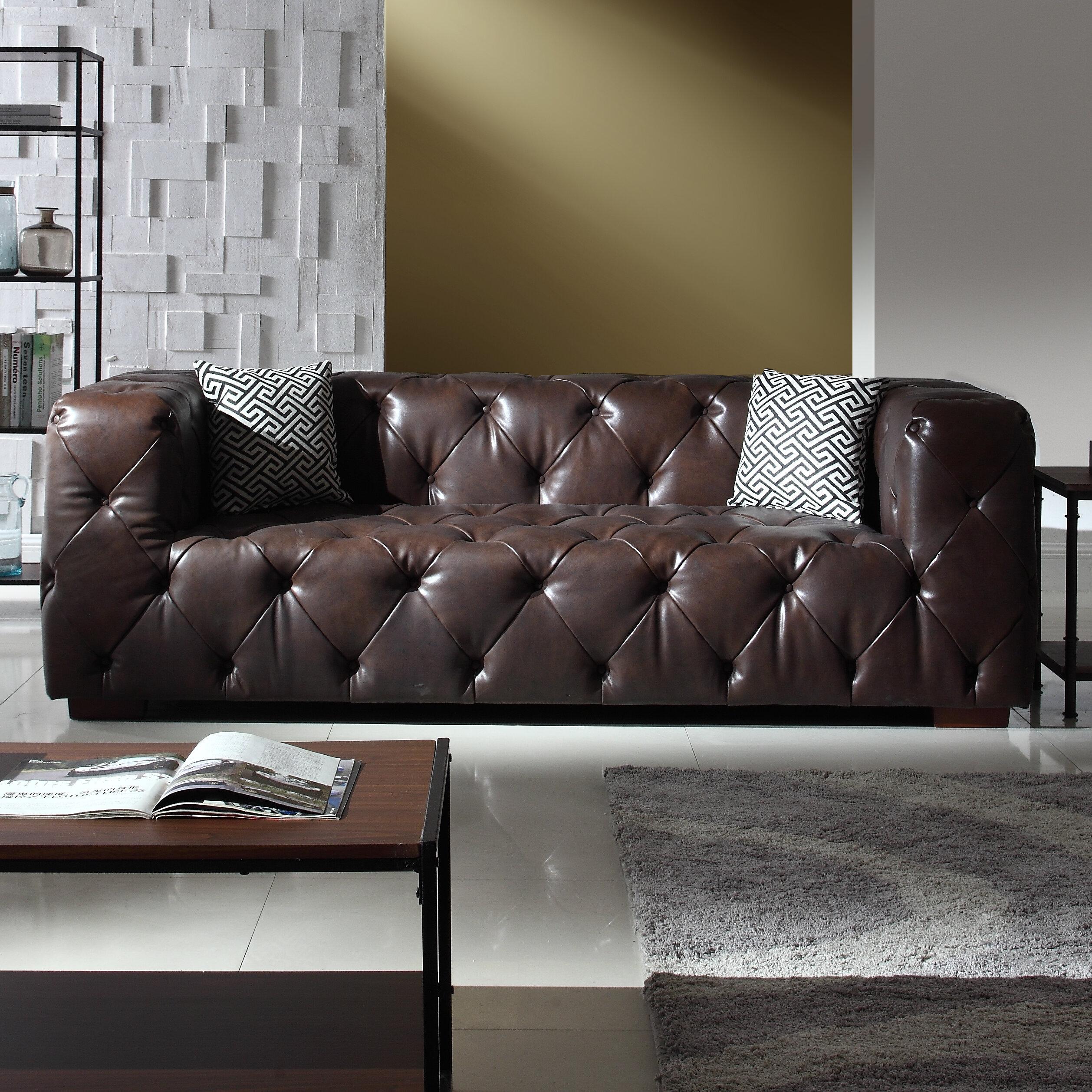 Exceptionnel Hamlin Modern Leather Sofa
