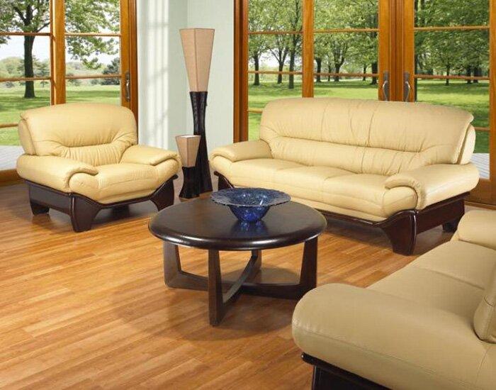 Clauderson Leather 3 Piece Living Room Set