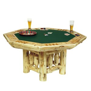 Traditional Cedar Log Poker Table