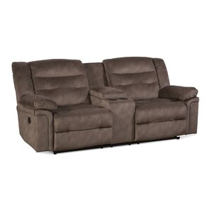 Serta Upholstery Charlestown Double Recliner Reclining Loveseat by Latitude Run