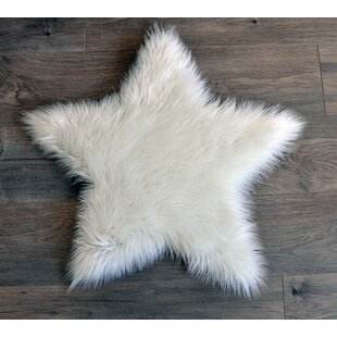 Faux Fur White Area Rug By Kroma Carpets