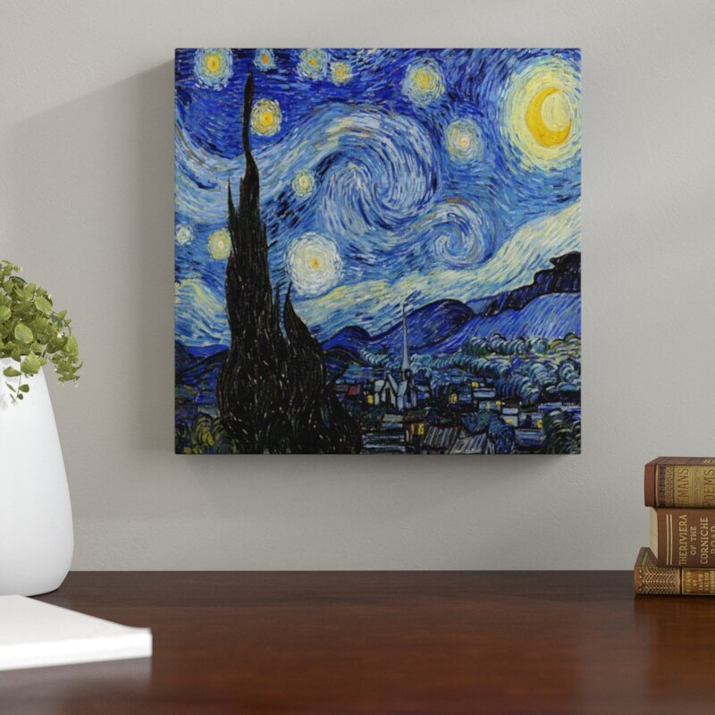 Winston Porter 'The Starry Night' by Vincent Van Gogh Painting Print on Wrapped Canvas