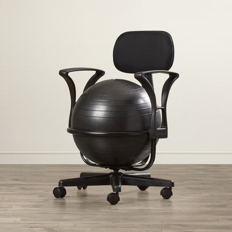 Stability Ball Desk Chair: Symple Stuff Exercise Ball Chair & Reviews