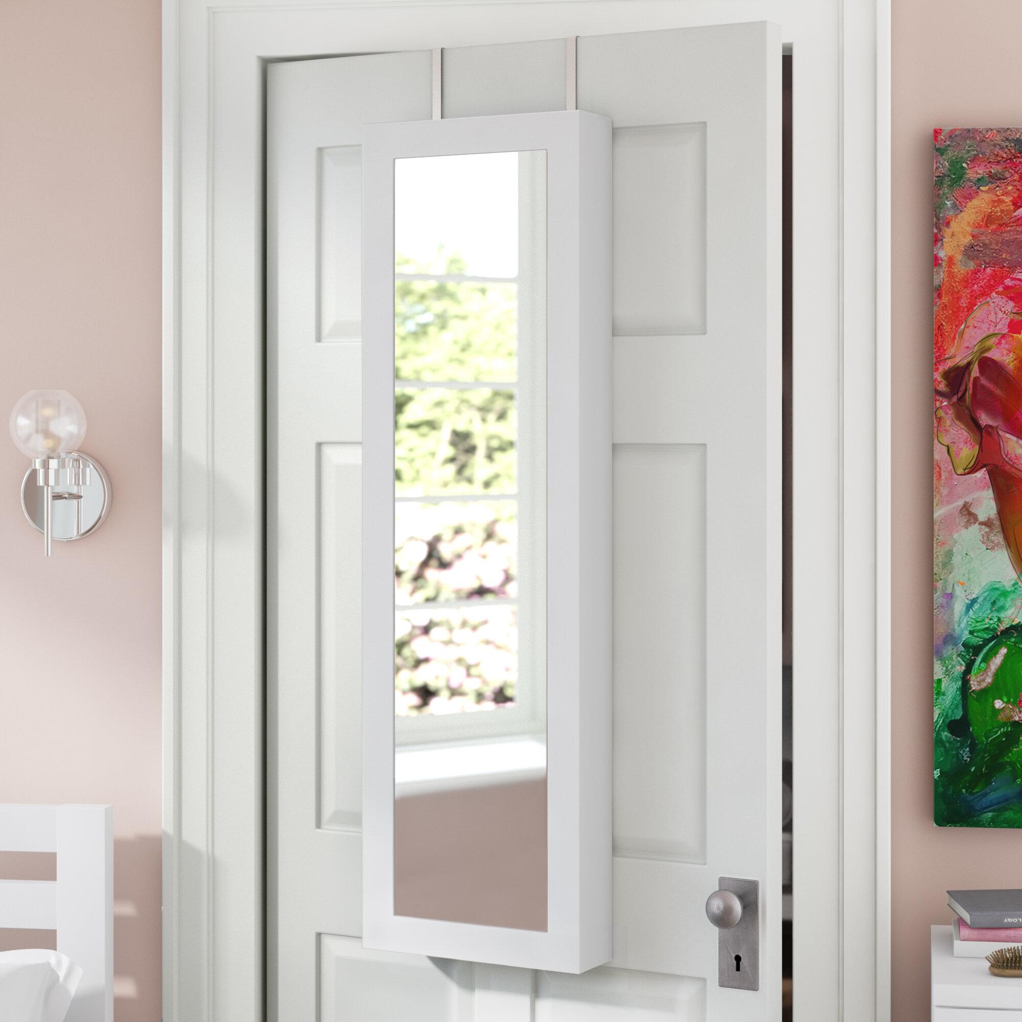 Zipcode Design Carolina Jewelry And Makeup Cabinet Over The Door Armoire With Mirror Reviews Wayfair
