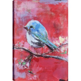 ac7970dc6c6  Blue Bird  Oil Painting Print on Canvas